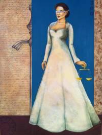 Dama da Justiça - Acervo do Fórum de São João del Rei - OST - 60x80 - Diego Mendonça