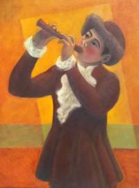 Flautista - OST - 60 x 80 - Diego Mendonça