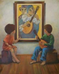 Homenagem ao mestre Quaglia - OST - 80 x 100 - Diego Mendonça
