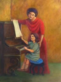 Professora de piano - OSt - 50 x 70 - OST - Diego Mendonça