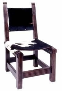 Cadeira achatada couro peludo