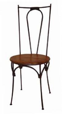Cadeira assento ferro redondo