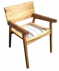 cadeira listas azuis