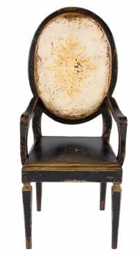 Cadeira Medalhão flores