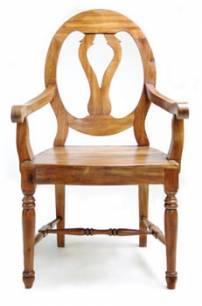 Cadeira medalhão sem braço