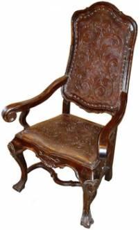 Cadeira pé garra encosto liso