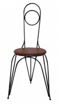 Cadeira tripé de ferro