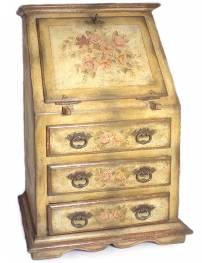 Escrivaninha de madeira pintada