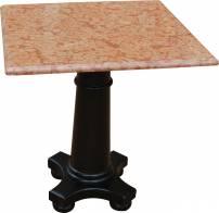 Mesa costes com mármores rosso verona