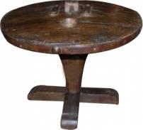 Mesa lateral roda de carro de boi