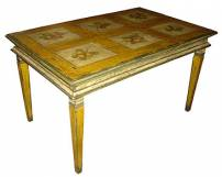 Mesa quadriculada pintada